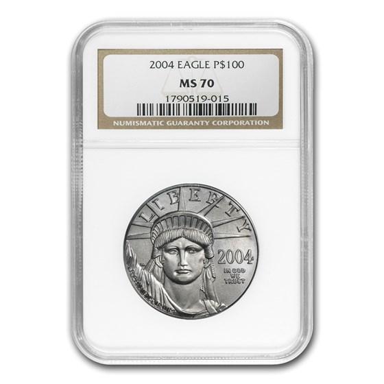 2004 1 oz Platinum American Eagle MS-70 NGC