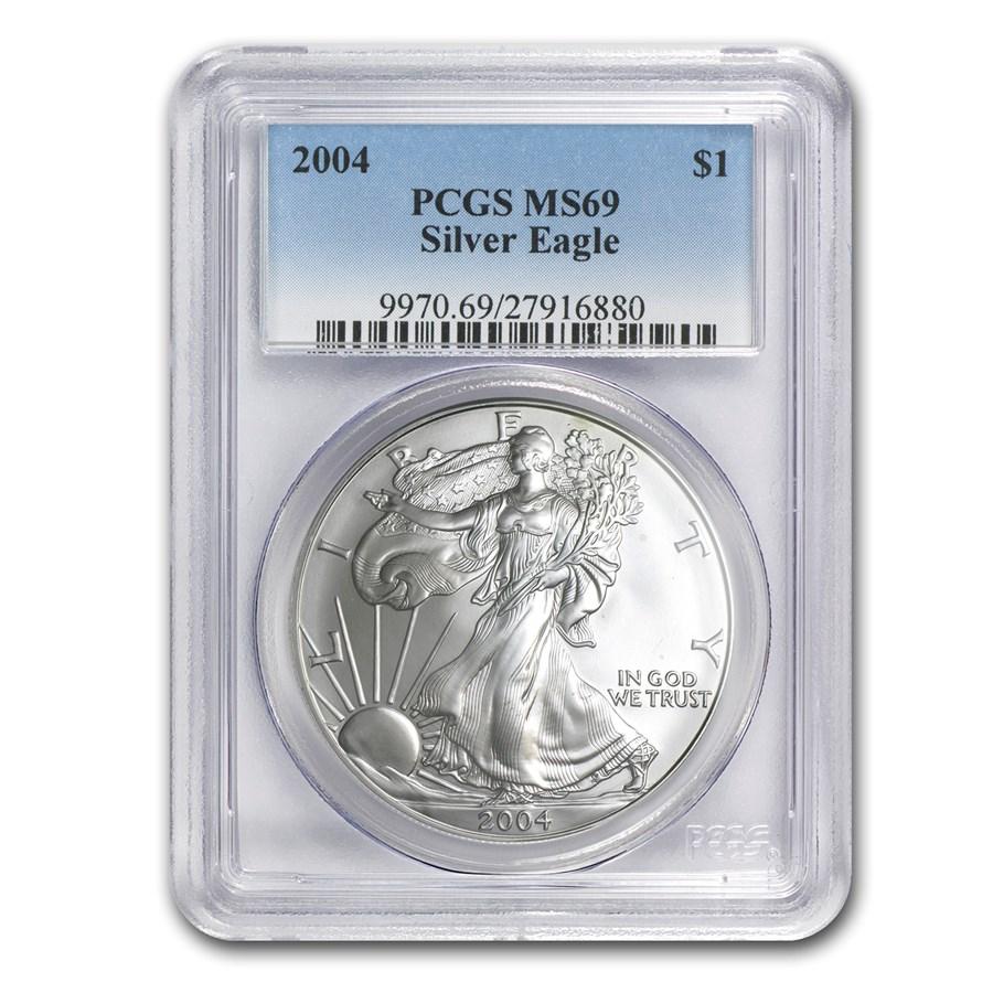 2004 American Silver Eagle MS-69 PCGS