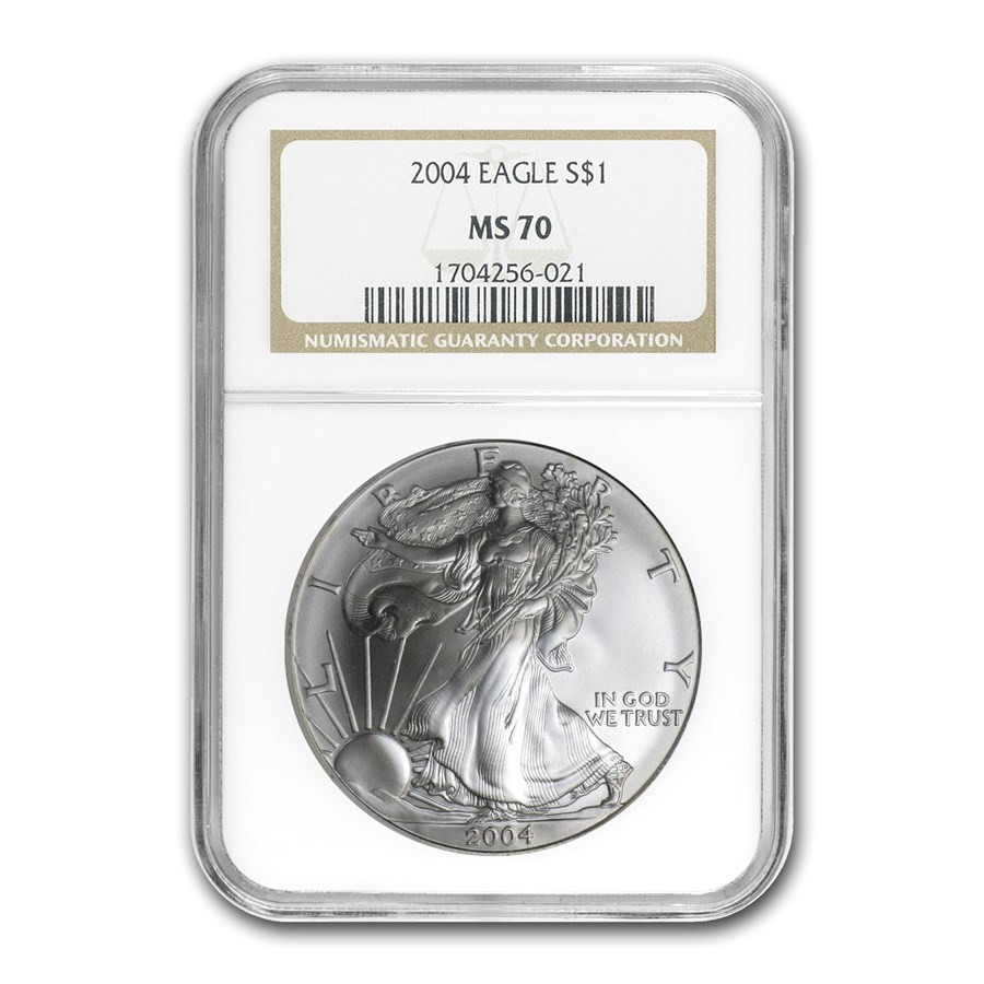 2004 American Silver Eagle MS-70 NGC