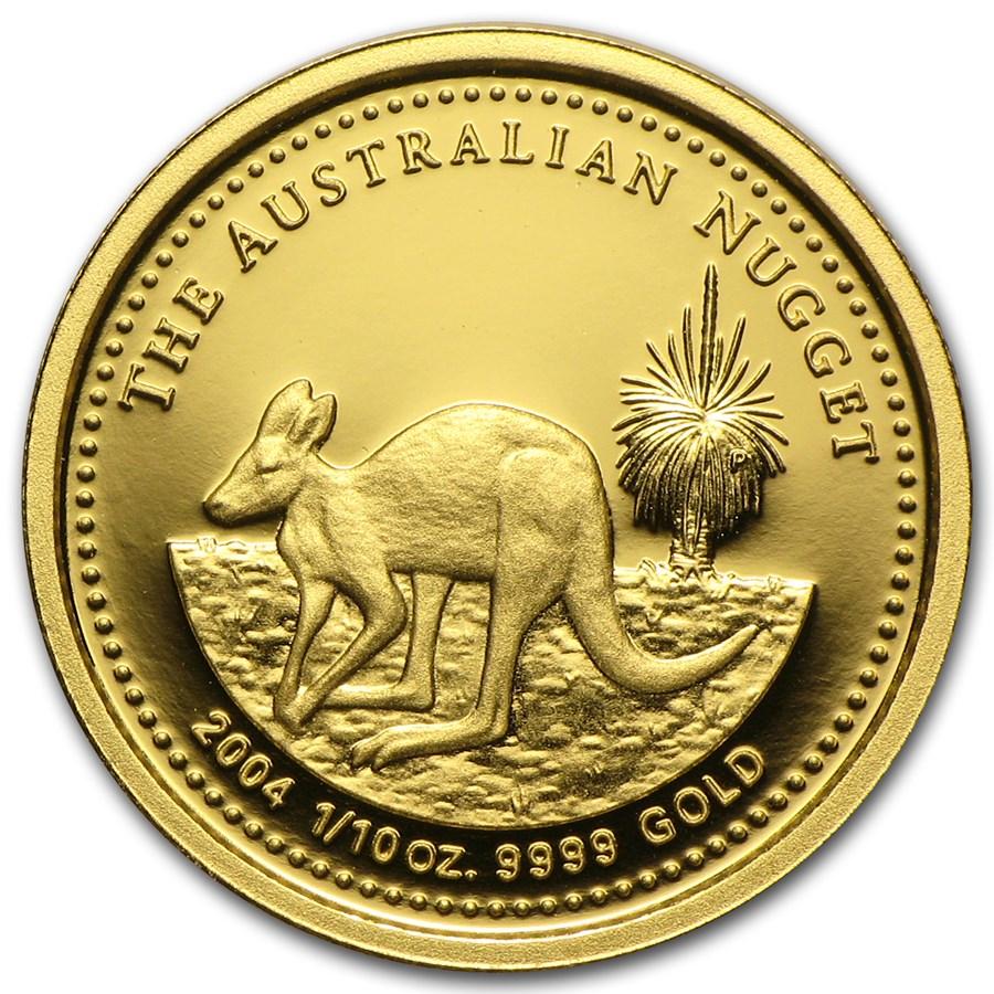 2004 Australia 1/10 oz Proof Gold Nugget