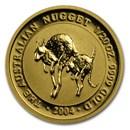 2004 Australia 1/20 oz Gold Nugget