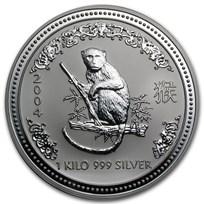 2004 Australia 1 kilo Silver Year of the Monkey BU