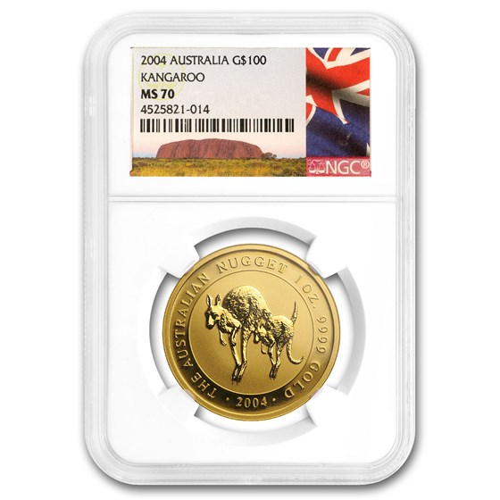 2004 Australia 1 oz Gold Nugget MS-70 NGC