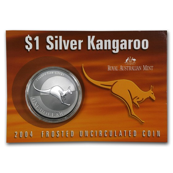 2004 Australia 1 oz Silver Kangaroo (In Display Card)