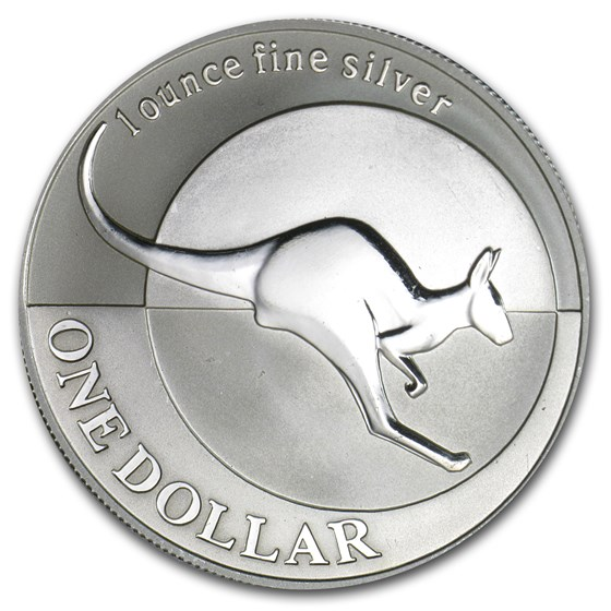 2004 Australia 1 oz Silver Kangaroo (Light Abrasions)