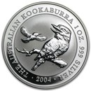 2004 Australia 1 oz Silver Kookaburra BU
