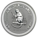 2004 Australia 1 oz Silver Year of the Monkey BU (Series I)