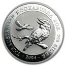 2004 Australia 2 oz Silver Kookaburra BU