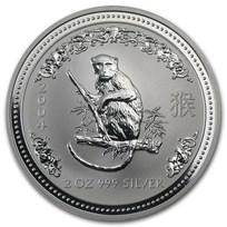 2004 Australia 2 oz Silver Year of the Monkey BU
