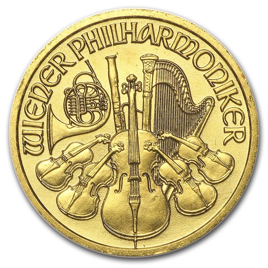 2004 Austria 1/10 oz Gold Philharmonic BU