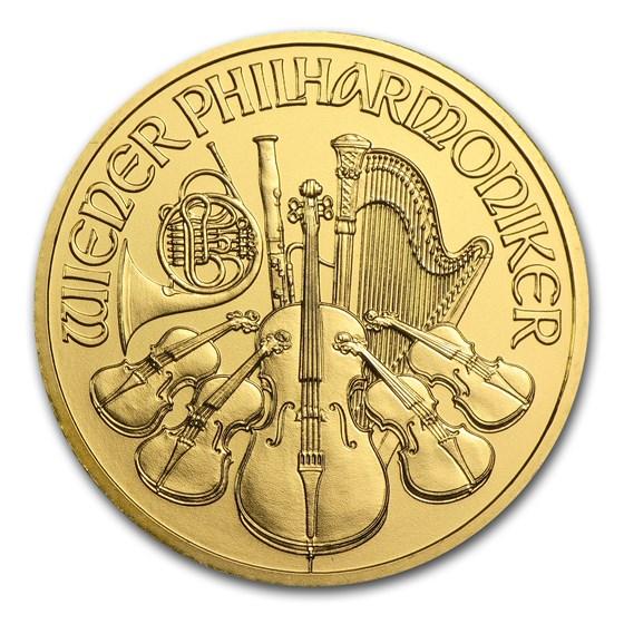 2004 Austria 1/2 oz Gold Philharmonic BU