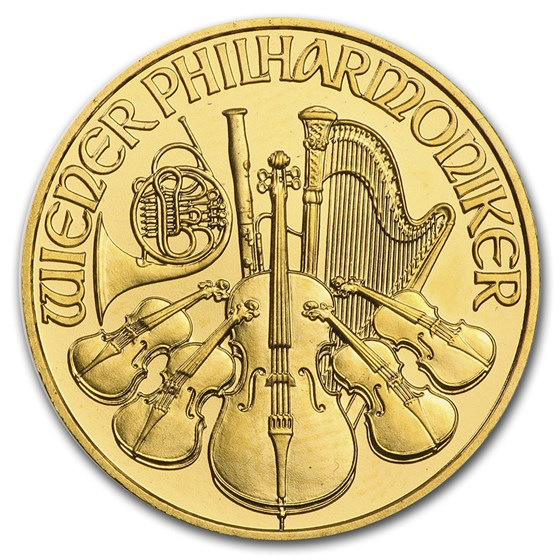 2004 Austria 1/4 oz Gold Philharmonic BU