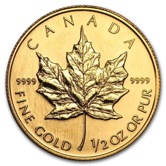 2004 Canada 1/2 oz Gold Maple Leaf BU