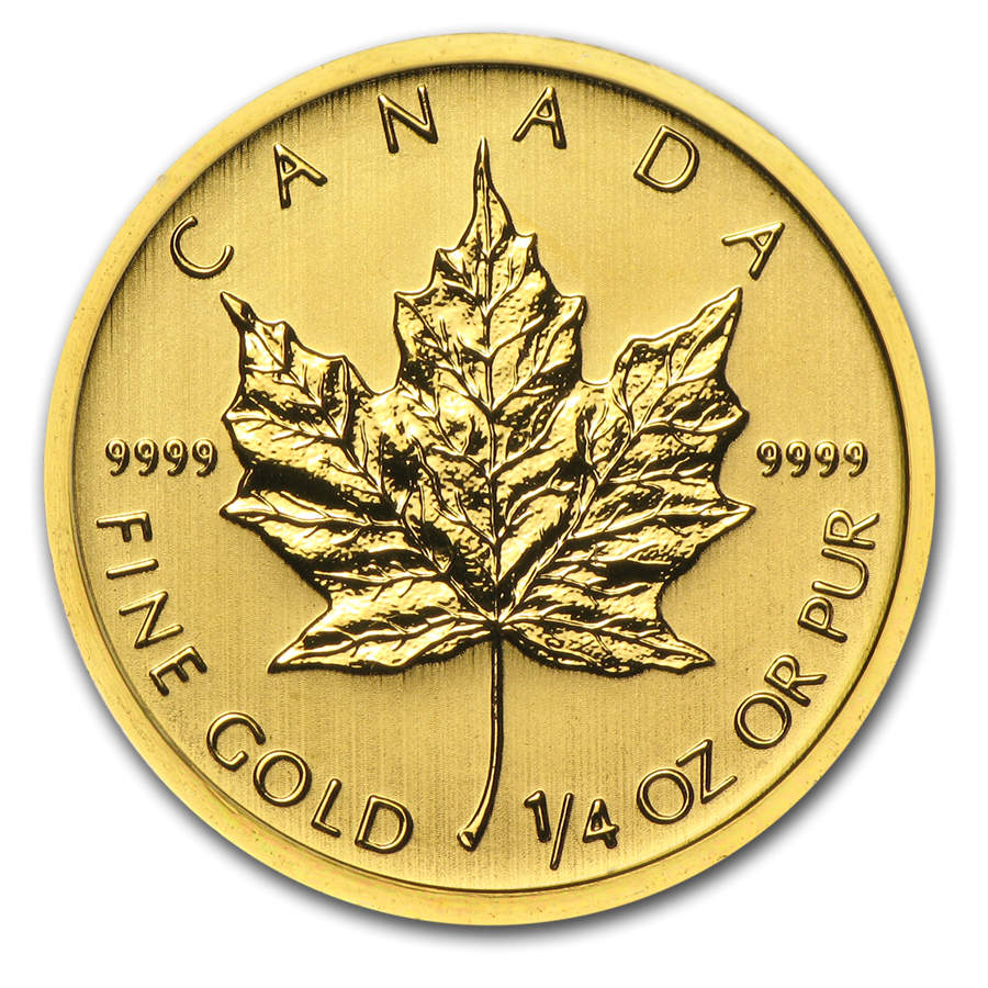 2004 Canada 1/4 oz Gold Maple Leaf BU