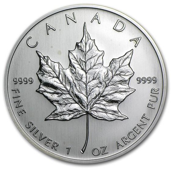 2004 Canada 1 oz Silver Maple Leaf BU