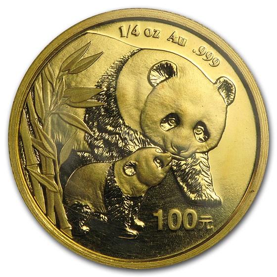 2004 China 1/4 oz Gold Panda BU (Sealed)