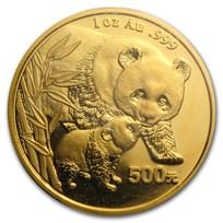 2004 China 1 oz Gold Panda BU (Sealed)