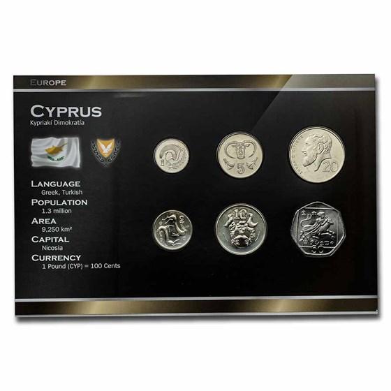 2004 Cyprus Pre-Euro 6-Coin Set BU