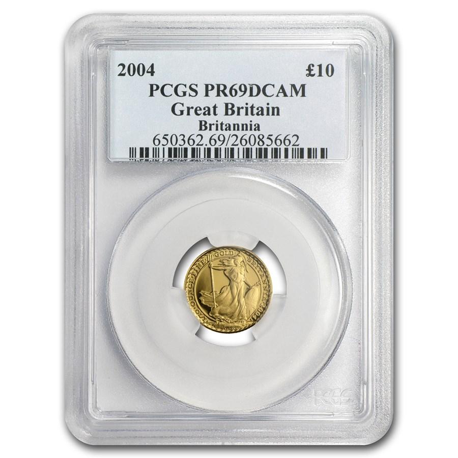 2004 Great Britain 1/10 oz Proof Gold Britannia PR-69 PCGS