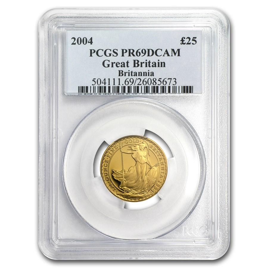 2004 Great Britain 1/4 oz Proof Gold Britannia PR-69 PCGS