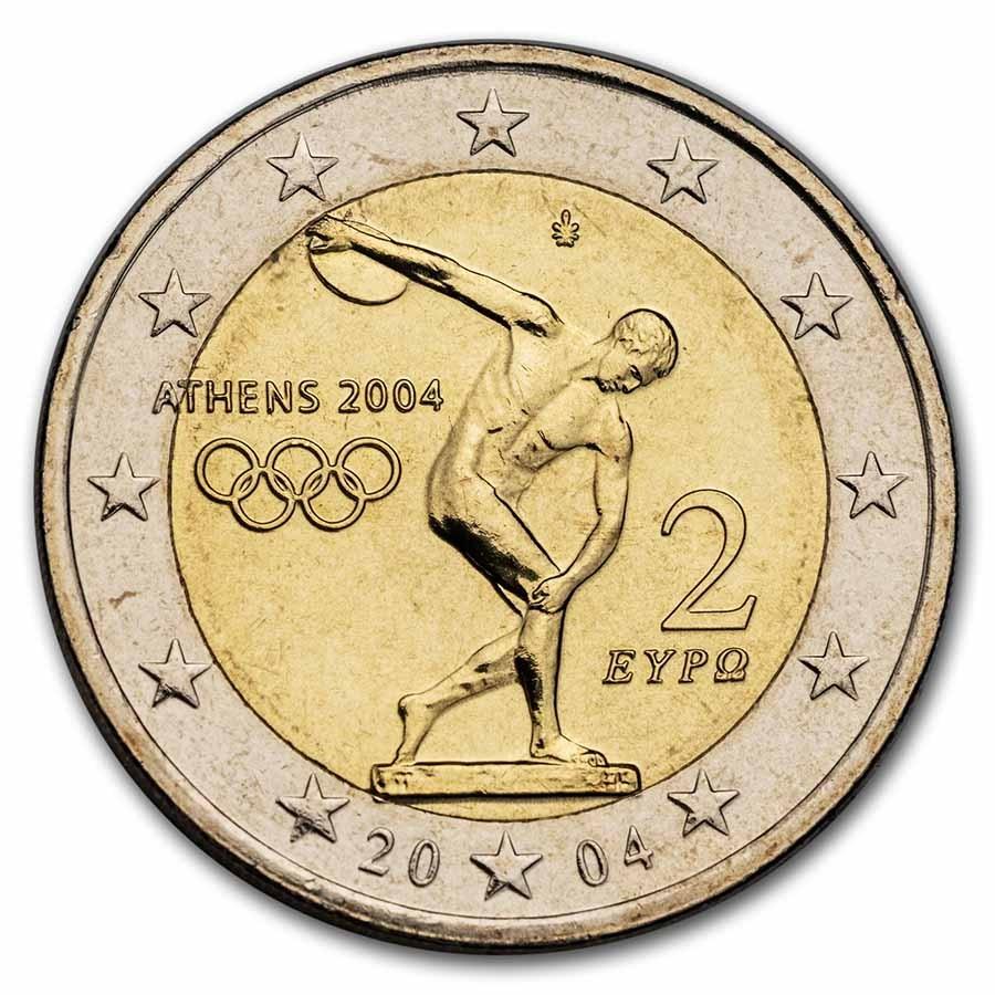 2004 Greece 2 Euro Olympic Games BU