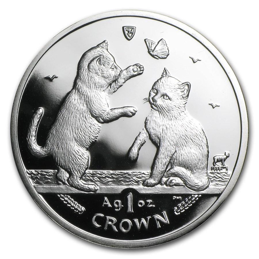 2004 Isle of Man 1 oz Silver Tonkinese Kittens Proof