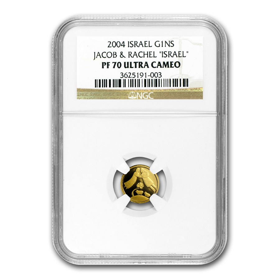 2004 Israel 1/25 oz Proof Gold Jacob & Rachel PF-70 NGC
