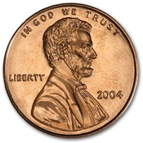 2004 Lincoln Cent BU (Red)