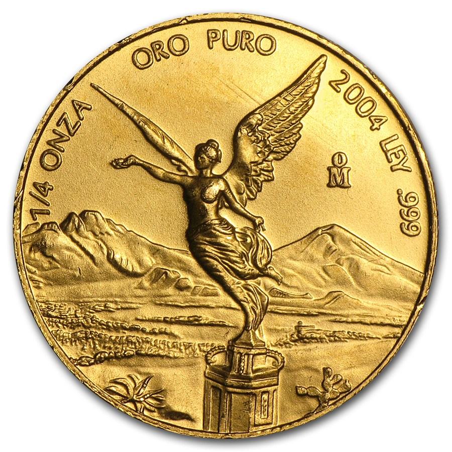 2004 Mexico 1/4 oz Gold Libertad BU