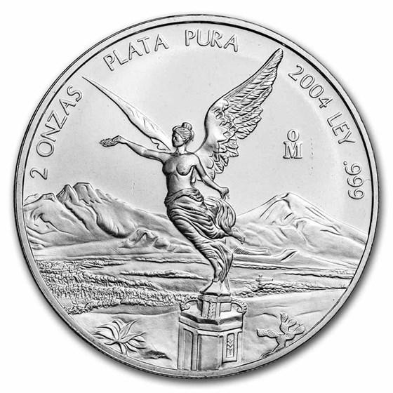 2004 Mexico 2 oz Silver Libertad BU