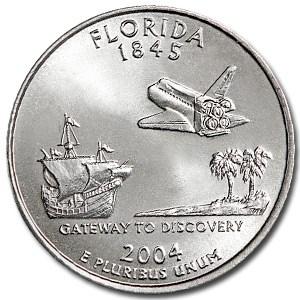 2004-P Florida State Quarter BU
