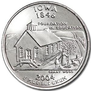 2004-P Iowa State Quarter BU