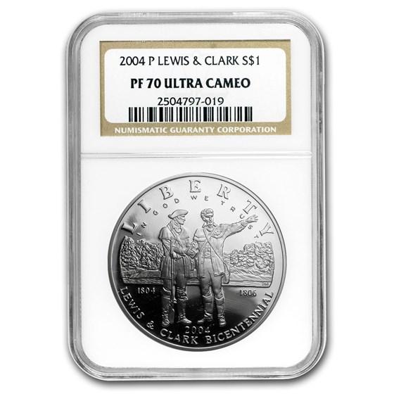 2004-P Lewis & Clark Bicentennial $1 Silver Commem PF-70 NGC