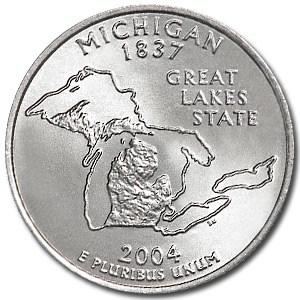 2004-P Michigan State Quarter BU