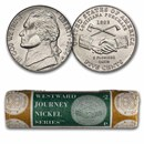 2004-P Peace Medal Nickel 40-coin Mint Wrapped Roll BU