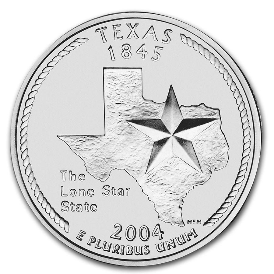 2004-P Texas State Quarter BU