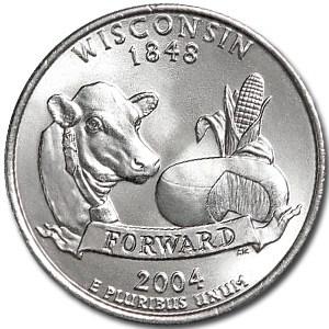2004-P Wisconsin State Quarter BU