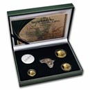 2004 South Africa 3-Coin Gold Natura Lynx Proof Set