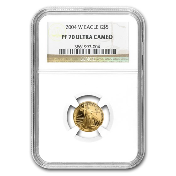 2004-W 1/10 oz Proof American Gold Eagle PF-70 UCAM NGC