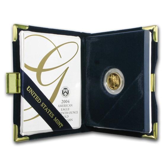 2004-W 1/10 oz Proof American Gold Eagle (w/Box & COA)