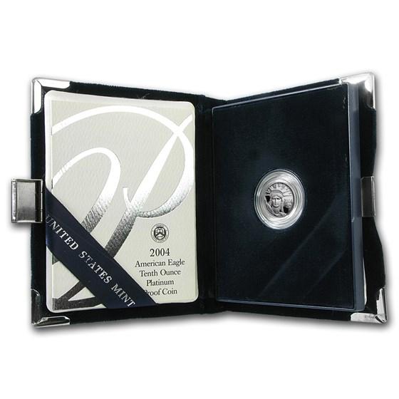 2004-W 1/10 oz Proof American Platinum Eagle (w/Box & COA)