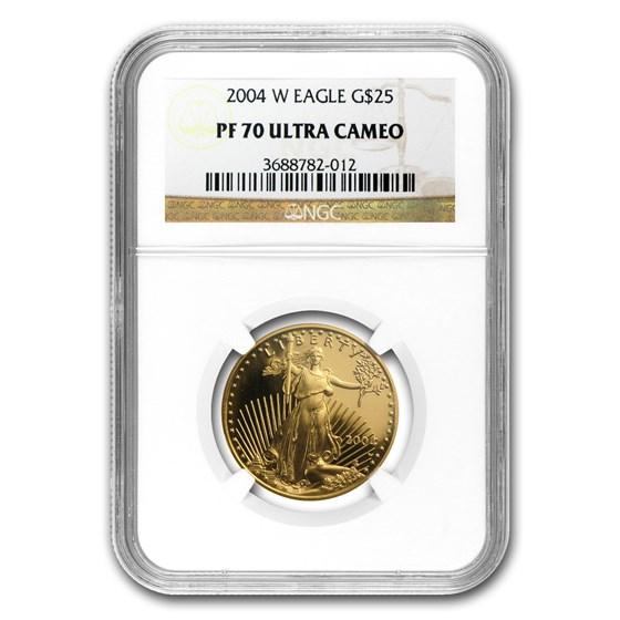 2004-W 1/2 oz Proof American Gold Eagle PF-70 UCAM NGC