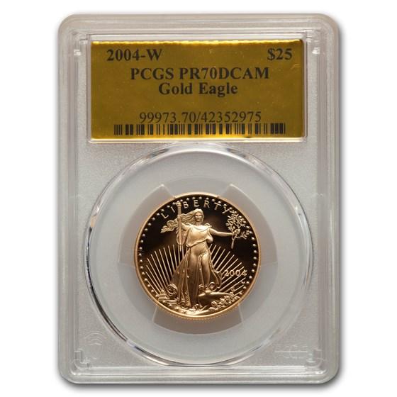 2004-W 1/2 oz Proof American Gold Eagle PR-70 PCGS (Gold Foil)