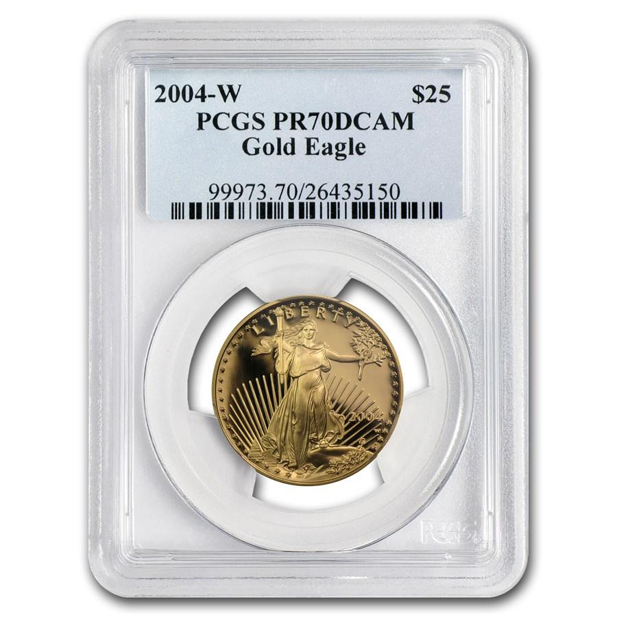 2004-W 1/2 oz Proof American Gold Eagle PR-70 PCGS