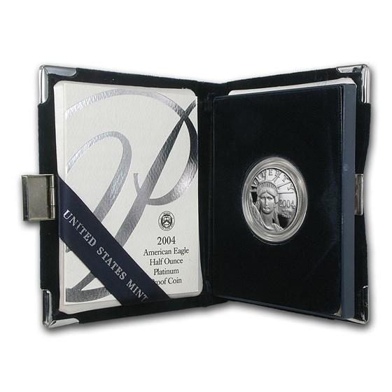 2004-W 1/2 oz Proof American Platinum Eagle (w/Box & COA)