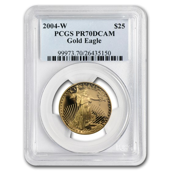 2004-W 1/2 oz Proof Gold American Eagle PR-70 PCGS