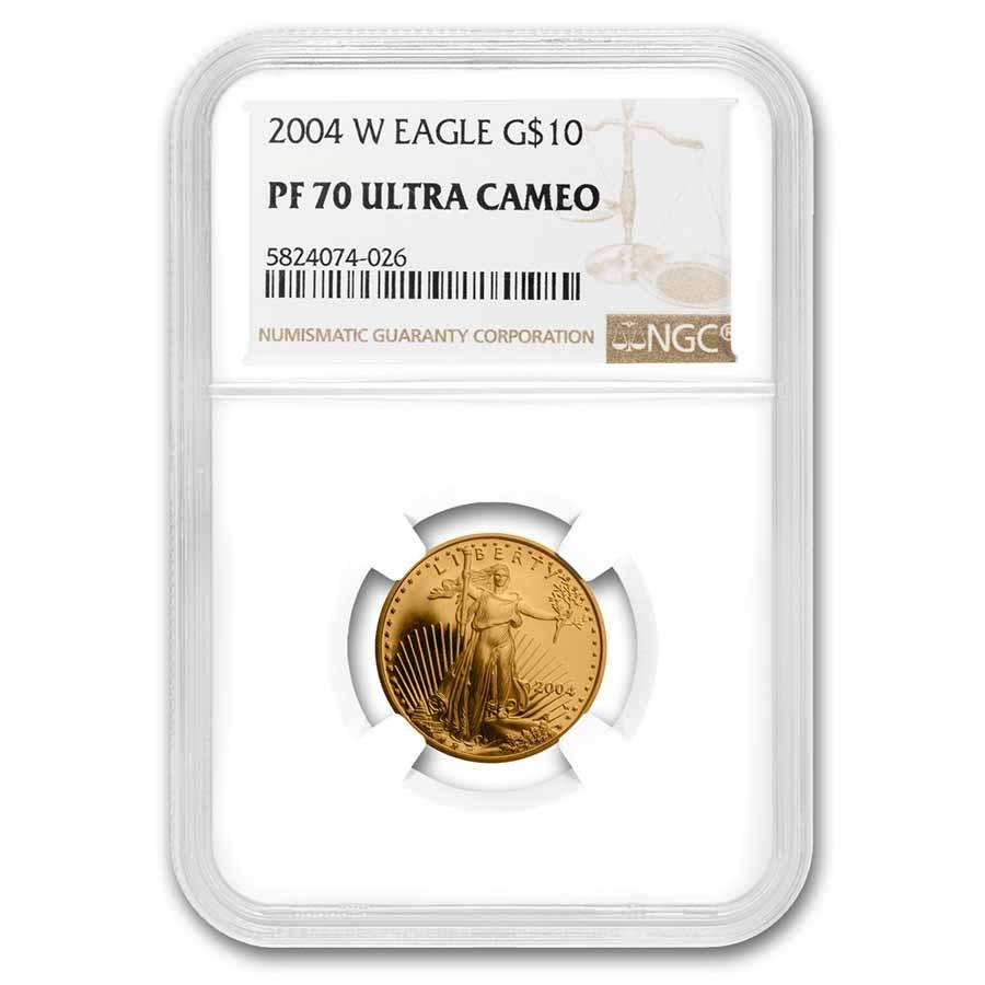 2004-W 1/4 oz Proof American Gold Eagle PF-70 NGC