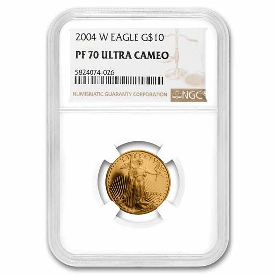 2004-W 1/4 oz Proof American Gold Eagle PF-70 UCAM NGC