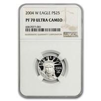2004-W 1/4 oz Proof American Platinum Eagle PF-70 NGC