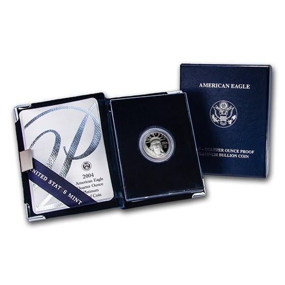 2004-W 1/4 oz Proof American Platinum Eagle (w/Box & COA)